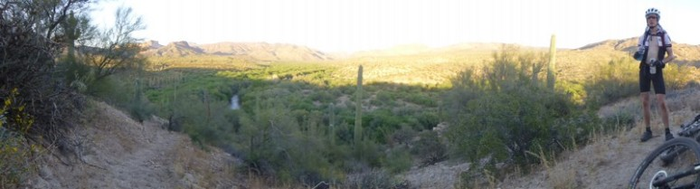 Beautiful desert setting and great single track.  Rode all the way to the end of the 300 with Forest, shared misery.