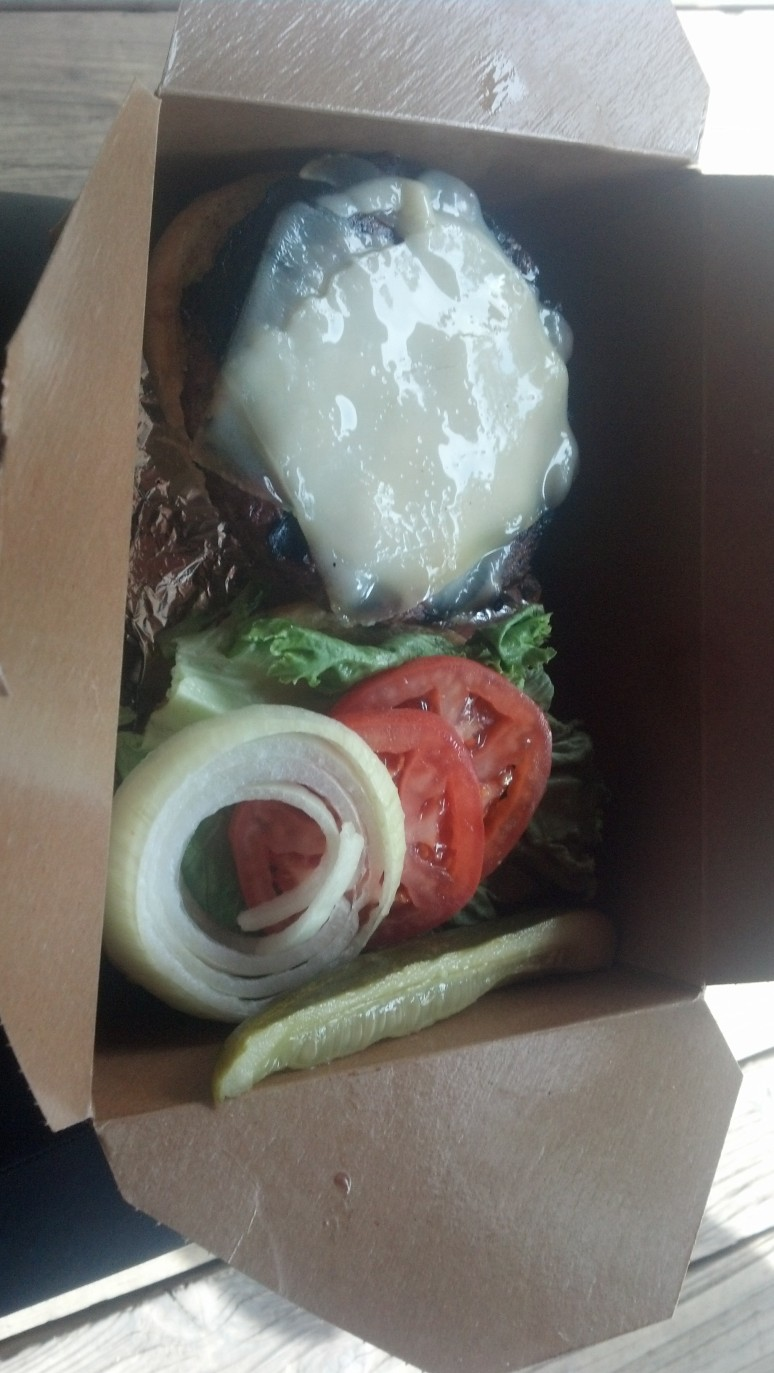 Mormon Lake Lodge burger.
