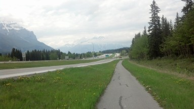 Alberta has many great bike paths just like this one to get you just about anywhere on a bike.
