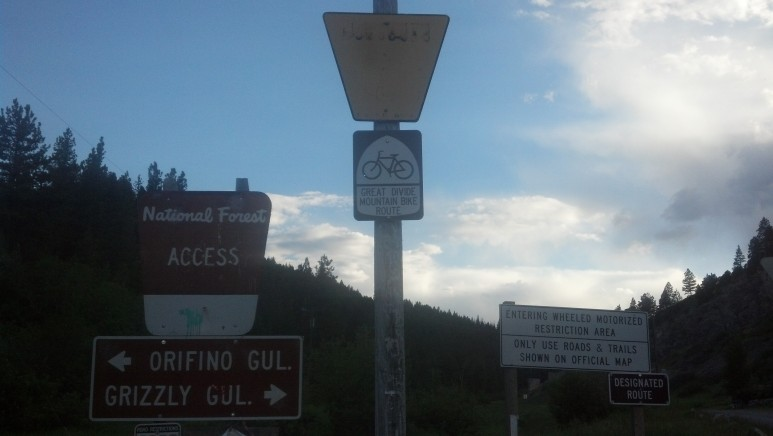 One of a few Great Divide Mountain Bike Route signs.  This one is just outside Helena.