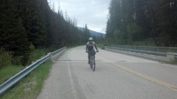 Pavement climb, an easy one from Wise River to Polaris. Rode off and on with Ian and Don here.