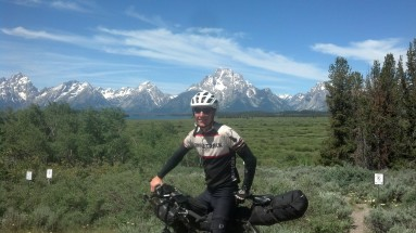 The Tetons! I was having an awesome time on this section. Wish I could have pulled over for a climb of the Grand Traverse.