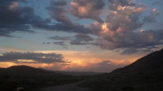 Another amazing sunset on the Tour Divide. Outside Kremming, CO.