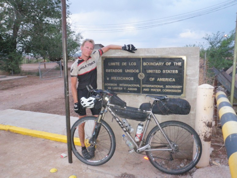 Me at the border.  What an awesome feeling.  Surreal.